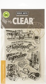 """Crafty Messages - Hero Arts Clear Stamps 4""""X6"""""""
