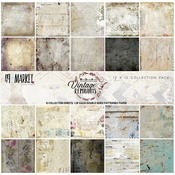 """Vintage Remnants - 49 And Market Collection Pack 12""""X12"""""""