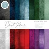 Grunge-Dark Tones Craft Consortium 6 x 6 Double-Sided Paper Pad