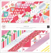 Lucky Us 12 x 12 Paper Pad - Pink Paislee