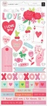 Lucky Us 6 x 12 Sticker Sheet - Pink Paislee - PRE ORDER