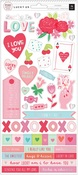Lucky Us 6 x 12 Sticker Sheet - Pink Paislee