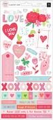Lucky Us 6 x 12 Sticker Sheet - Pink Paislee