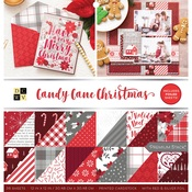 Candy Cane Christmas Foil Accented Stack - DCWV