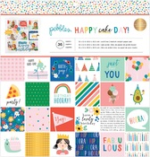 Happy Cake Day 12 x 12 Paper Pad - Pebbles