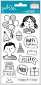 Happy Cake Day Clear Stamps - Pebbles