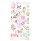 Dulce Collection Puffy Stickers - Prima