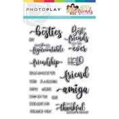 Words Stamp - Best Friends - Photo Play