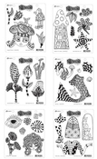 Dylusions Cling Stamp Collection - Set Of 6