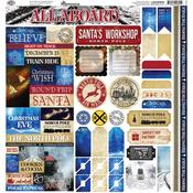 North Pole Express Reminisce Alpha Combo Cardstock Stickers