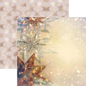 Starry Christmas Paper - Gold Christmas - Reminisce