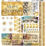 Gold Christmas Reminisce Elements Cardstock Stickers