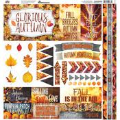 Glorious Autumn Reminisce Elements Cardstock Stickers