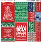 Santa's Sweater Reminisce Poster Cardstock Stickers