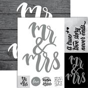 Mr. & Mrs Foiled Paper - Frameable Quotes - Reminisce