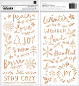 Chill Puffy Phrase & Icon Thickers - Snowflake - Crate Paper