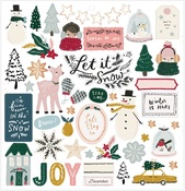 Snowflake Chipboard Stickers - Crate Paper