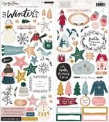 Snowflake Sticker Sheet - Crate Paper