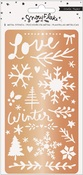 Snowflake Copper Metal Stencil - Crate Paper