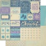 January Sentiments Paper - The Calendar Collection - Authentique