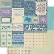 January Sentiments Paper - The Calendar Collection - Authentique