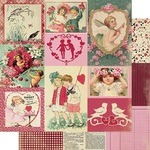 February Images Paper - The Calendar Collection - Authentique