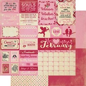 February Sentiments Paper - The Calendar Collection - Authentique