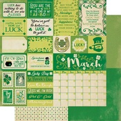 March Sentiments Paper - The Calendar Collection - Authentique