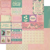 April Sentiments Paper - The Calendar Collection - Authentique