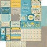 June Sentiments Paper - The Calendar Collection - Authentique