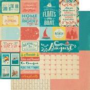August Sentiments Paper - The Calendar Collection - Authentique
