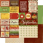 September Sentiments Paper - The Calendar Collection - Authentique