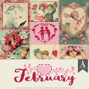 February Paper Pack - The Calendar Collection - Authentique