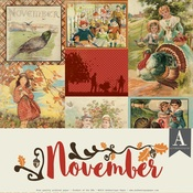 November Paper Pack - The Calendar Collection - Authentique