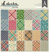 Patterns & Plaids Pad - The Calendar Collection - Authentique
