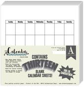 Blank Calendar 8 x 8 Paper Pad - The Calendar Collection - Authentique - PRE ORDER