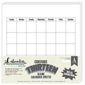 Blank Calendar 12 x 12 Paper Pad - The Calendar Collection - Authentique