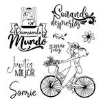 Bycicle Stamperia Cling Stamps Johanna Rivero
