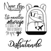 Backpack Stamperia Cling Stamps Johanna Rivero