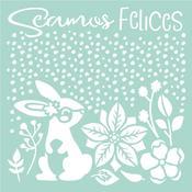 Seamos Felices Rabbit Stamperia Stencil Johanna Rivero