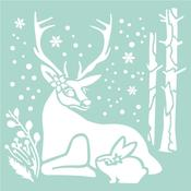 Reindeer & Rabbit Stamperia Stencil Johanna Rivero