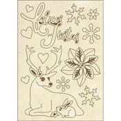 Reflices Fiestas Stamperia Wooden Shapes A6 Johanna Rivero