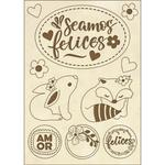 Seamos Felices Stamperia Wooden Shapes A6 Johanna Rivero