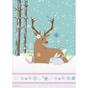 Reindeer & Rabbit Stamperia Rice Paper Sheet A4 Johanna Rivero
