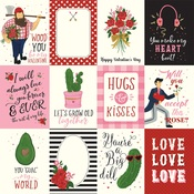 3x4 Journaling Cards Paper - Be My Valentine - Echo Park