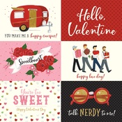 6x4 Journaling Cards Paper - Be My Valentine - Echo Park