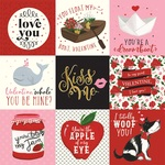 4x4 Journaling Cards Paper - Be My Valentine - Echo Park