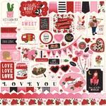 Be My Valentine Element Sticker - Echo Park - PRE ORDER