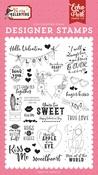 Hello Valentine Stamp Set - Echo Park