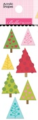 Trees Acrylic Shapes - Santa Squad - Bella Blvd